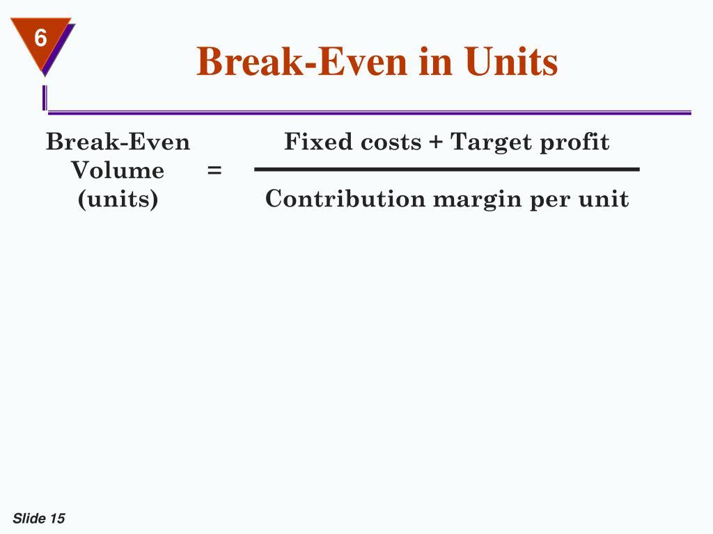 Break-Even in Units