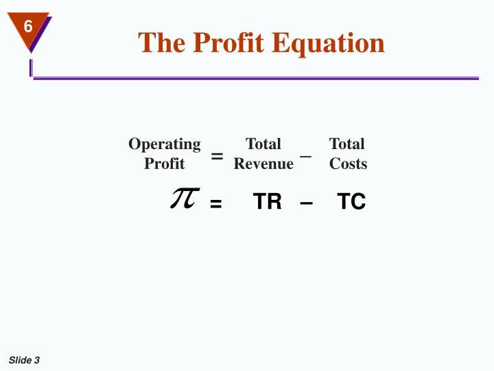 The profit equation3