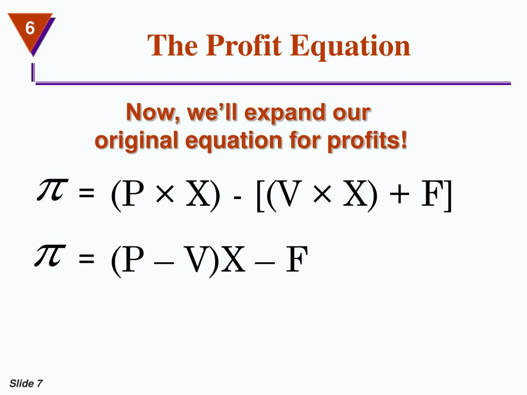The Profit Equation