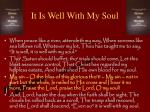 it is well with my soul5