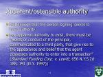 apparent ostensible authority
