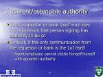 apparent ostensible authority15