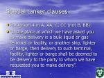 special tanker clauses