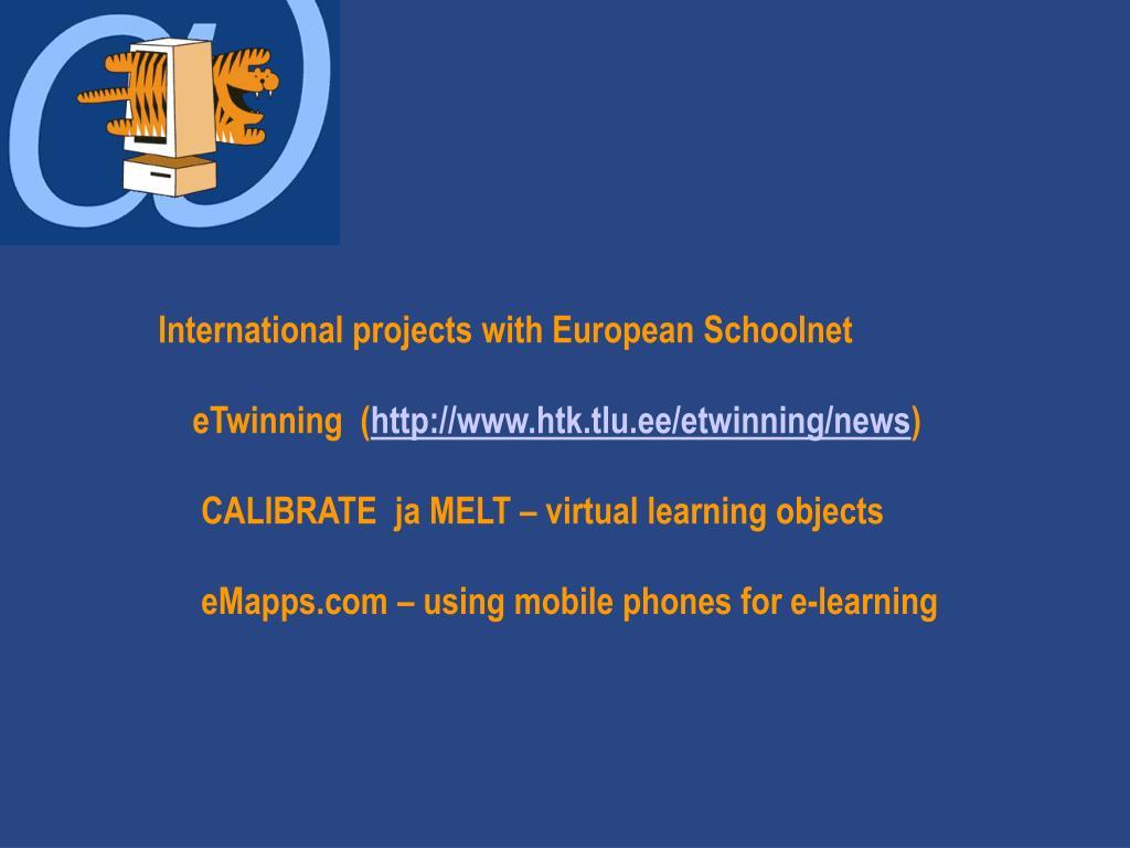 International projects with European Schoolnet