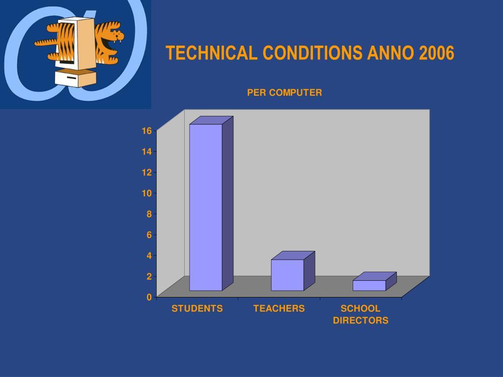 TECHNICAL CONDITIONS ANNO 2006