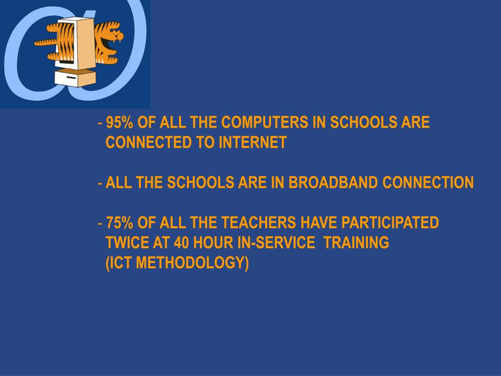 95% OF ALL THE COMPUTERS IN SCHOOLS ARE