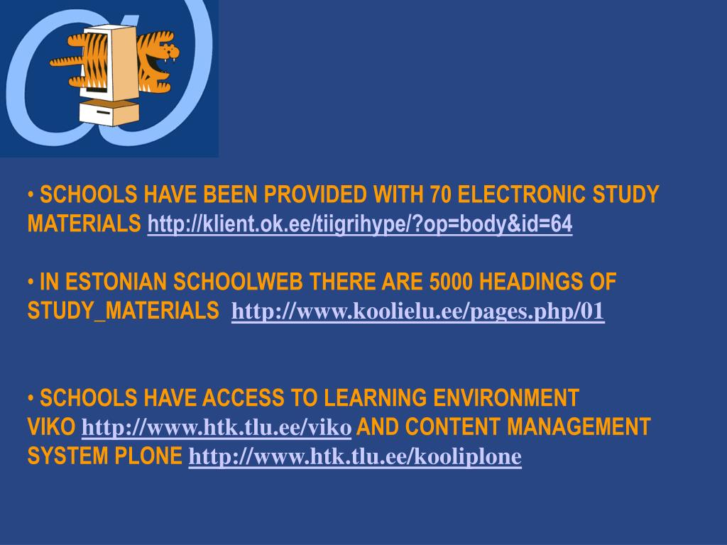 SCHOOLS HAVE BEEN PROVIDED WITH 70 ELECTRONIC STUDY MATERIALS