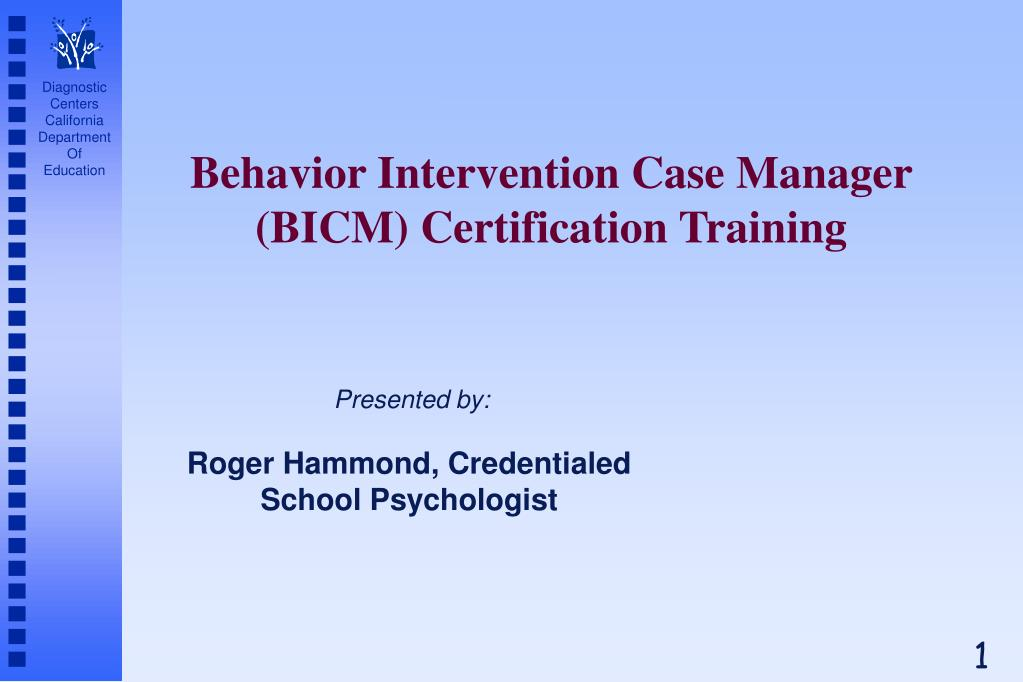 behavior intervention case manager bicm certification training l.