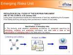 emerging risks unit