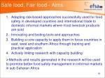 safe food fair food aims