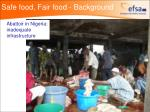 safe food fair food background10