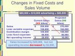 changes in fixed costs and sales volume20