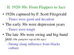 ii 1920 30s from flappers to jazz