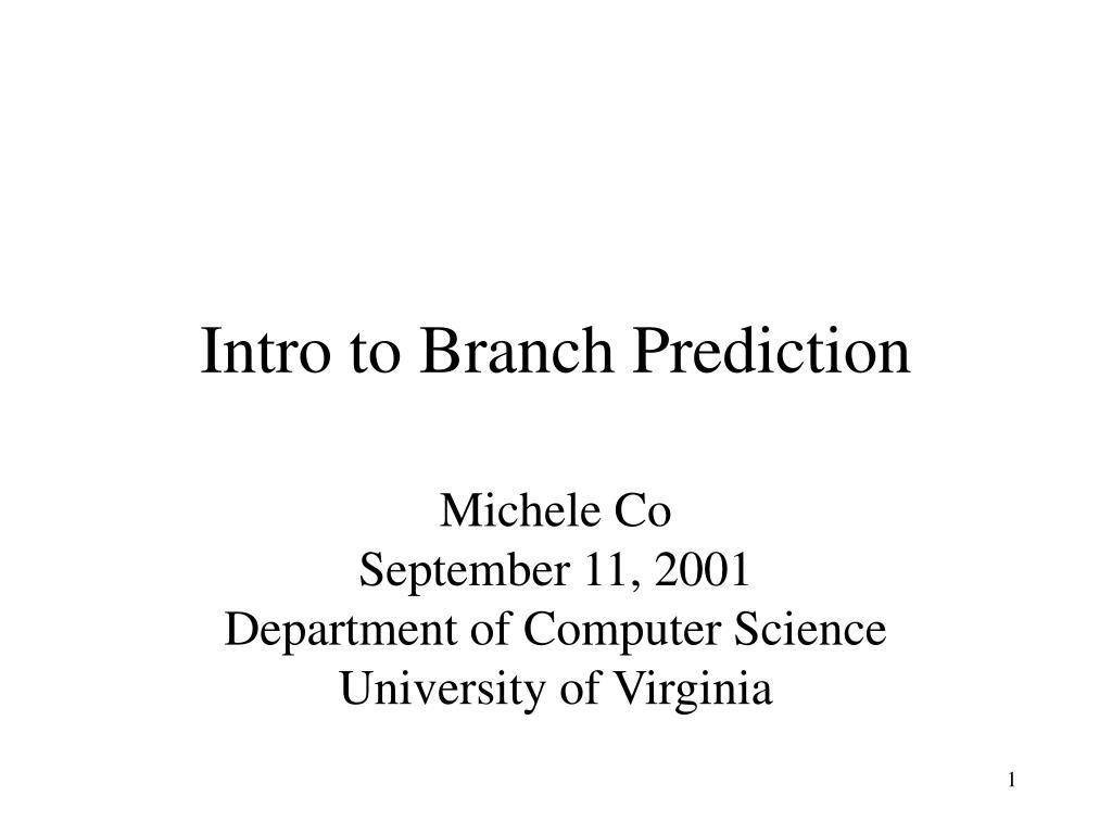 Intro to Branch Prediction