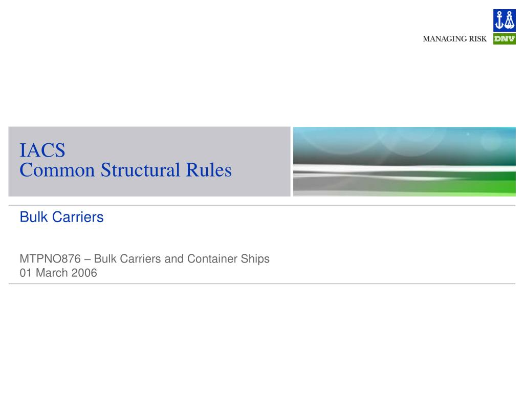 iacs common structural rules l.