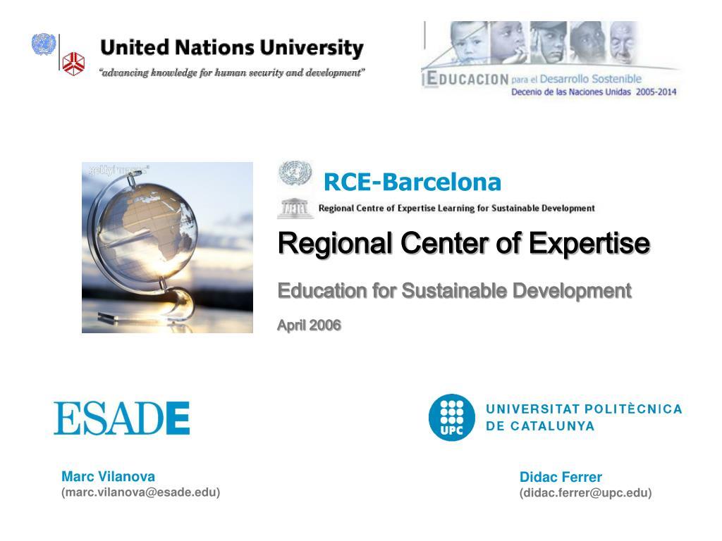 regional center of expertise l.