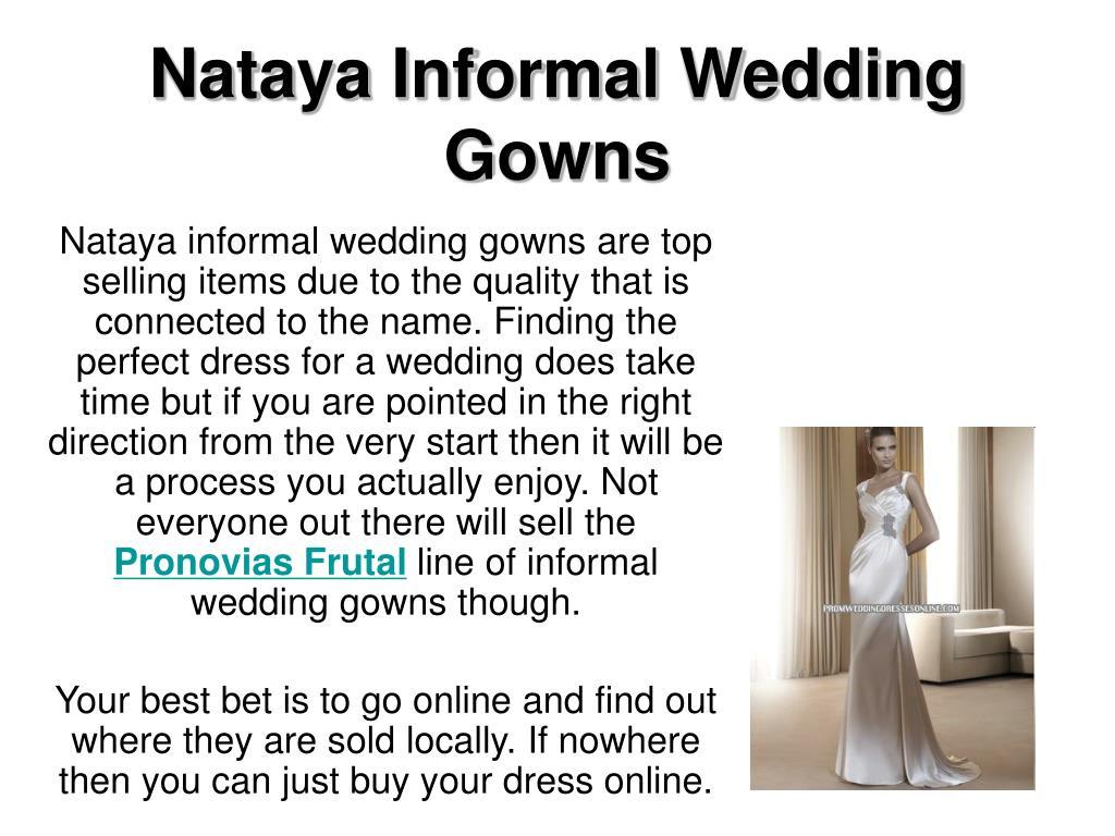 nataya informal wedding gowns l.