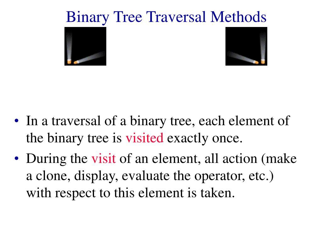 binary tree traversal methods l.