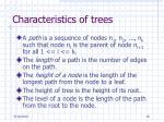 characteristics of trees