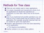methods for tree class