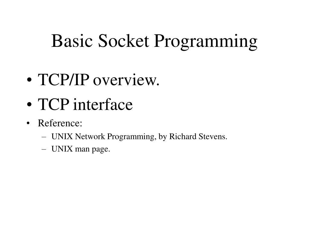 basic socket programming l.