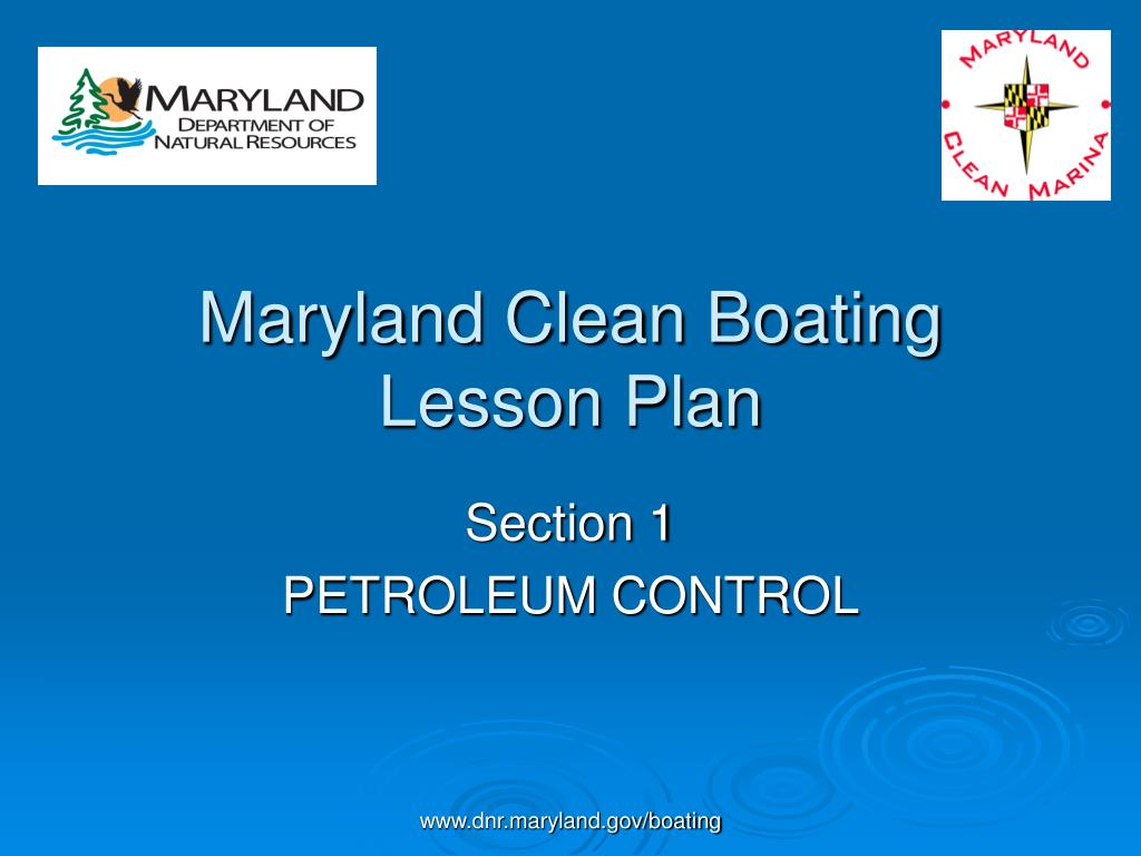 maryland clean boating lesson plan l.