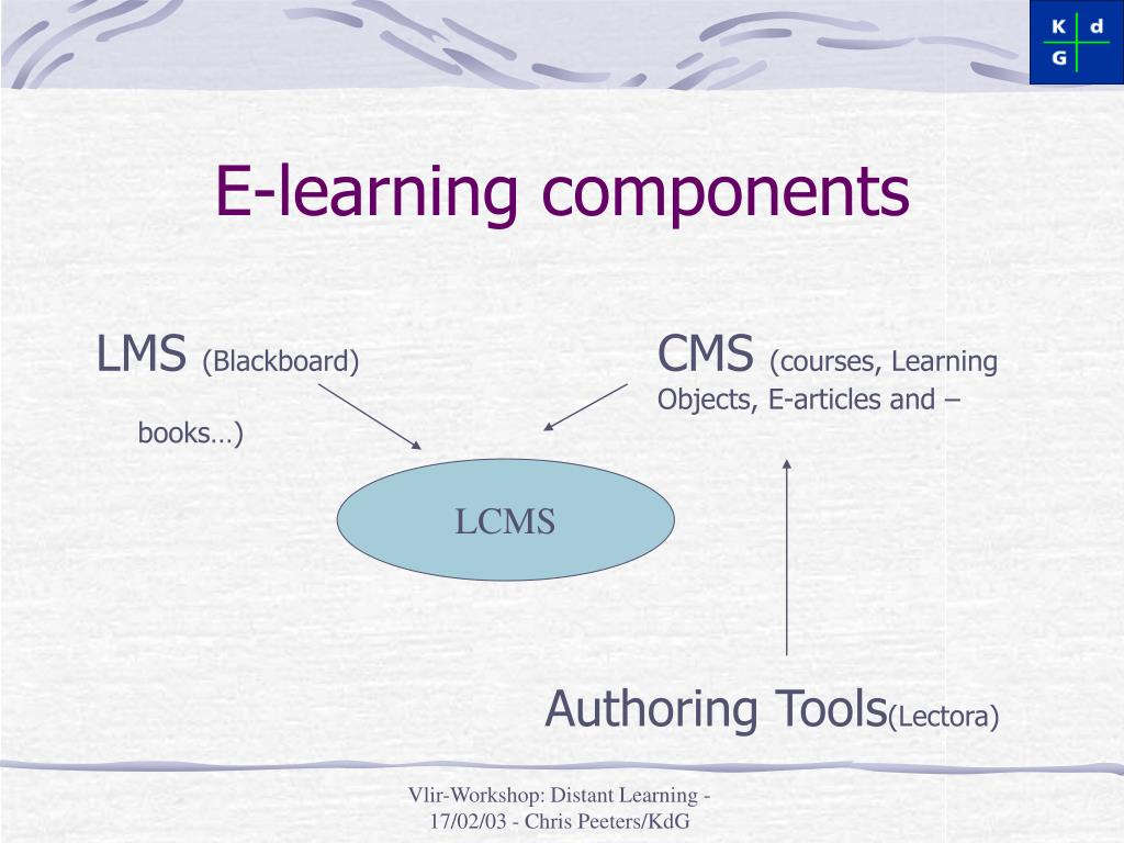 E-learning components