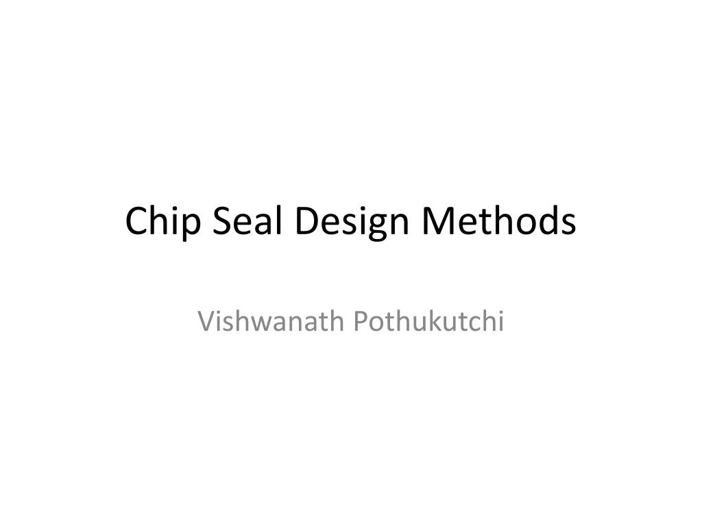 chip seal design methods l.