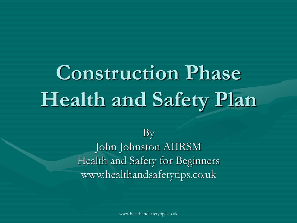 construction phase health and safety plan l.