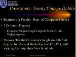 case study trinity college dublin