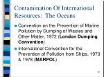 contamination of international resources the oceans