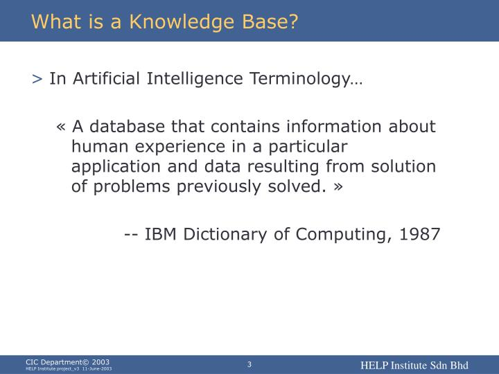 What is a knowledge base