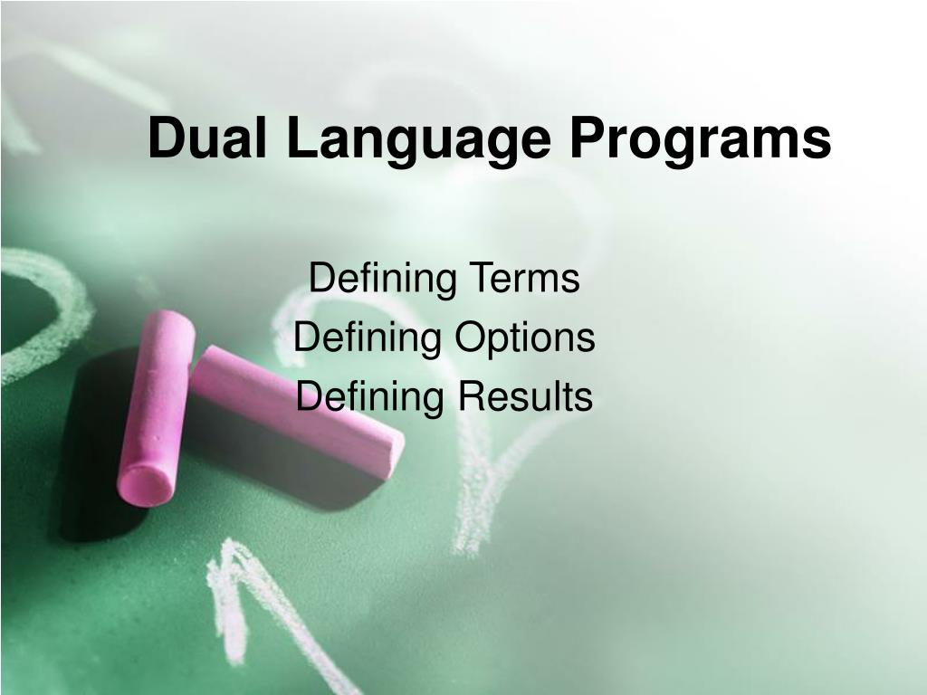 dual language programs l.