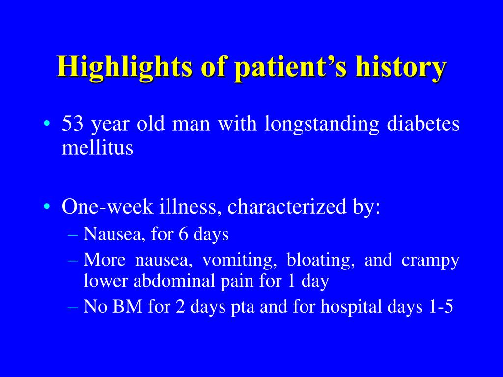 highlights of patient s history l.