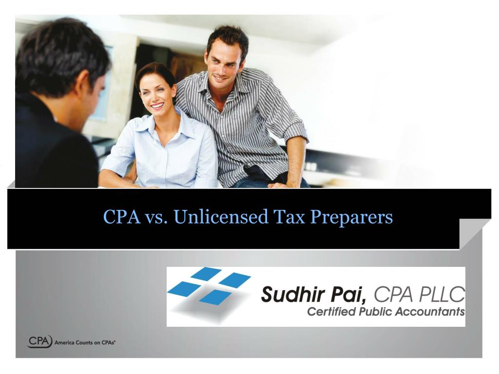 cpa vs unlicensed tax preparers l.