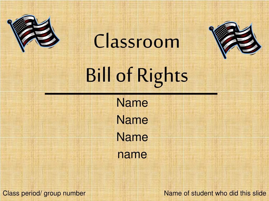 classroom bill of rights l.