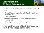 data warehouse ap super subject area