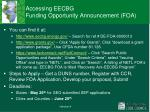 accessing eecbg funding opportunity announcement foa