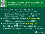 american recovery reinvestment act hb1 sb1 the stimulus package