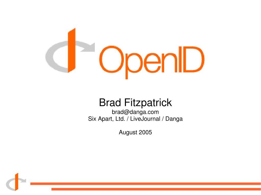 brad fitzpatrick brad@danga com six apart ltd livejournal danga august 2005 l.