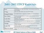 2001 2002 itpcp radio ads