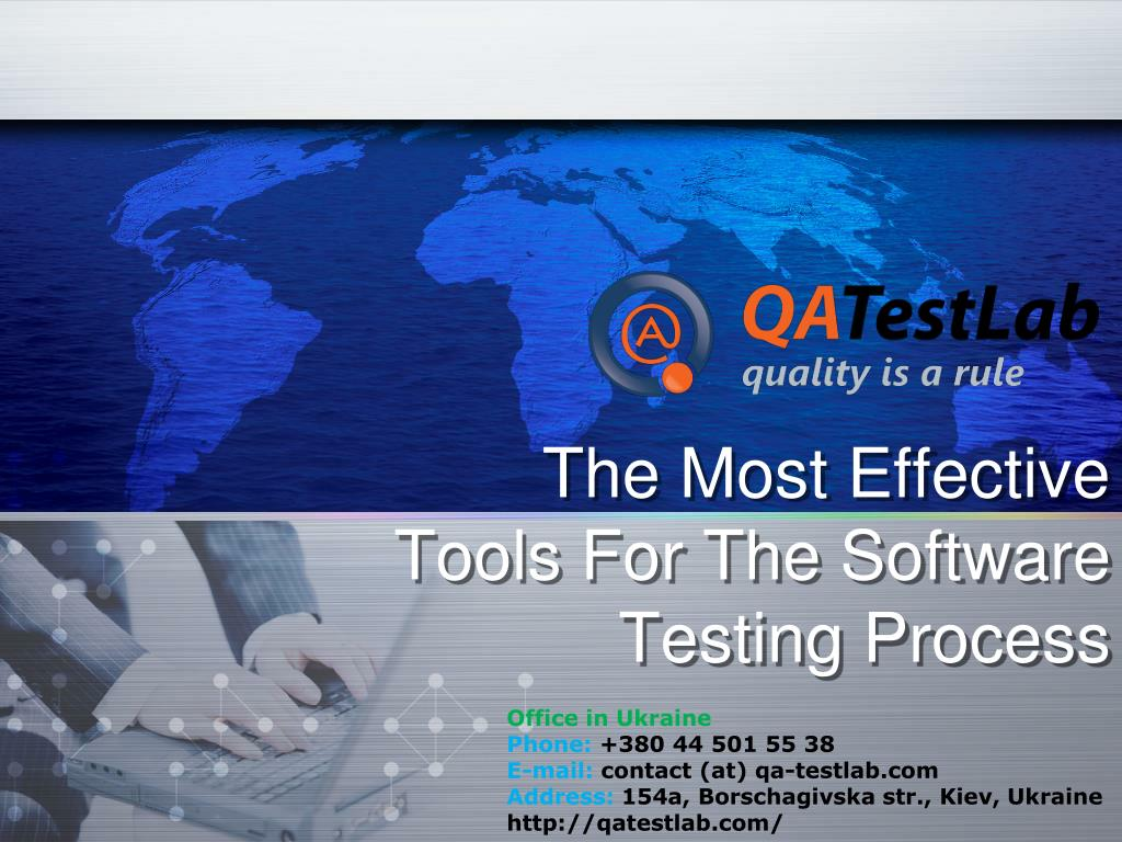 the most effective t ools f or the software testing process l.