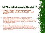 1 1 what is bioinorganic chemistry