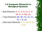 1 2 inorganic elements in biological systems