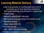 learning material delivery
