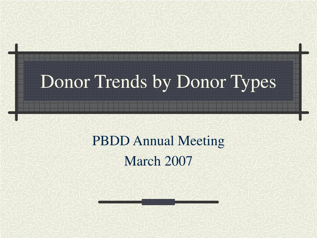 donor trends by donor types l.