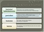 key terms geography social structure