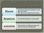key terms spartan social structure