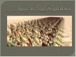 spartan h oplite phalanx