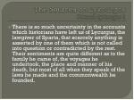 the sources on lykourgos plutarch lykourgos 1